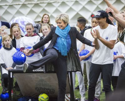 Jeand Doest met prinses Laurentien